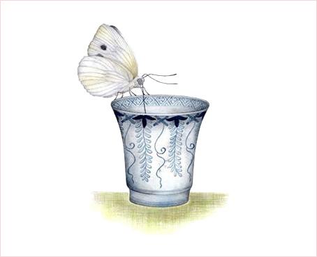 2002.6/紋白蝶と古伊万里